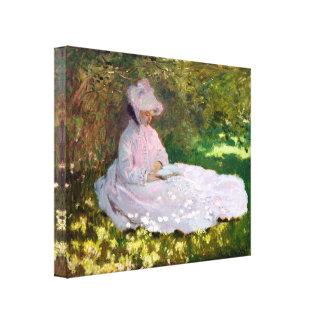 Claude Monet Springtime Impressionism Wrap Canvas Print