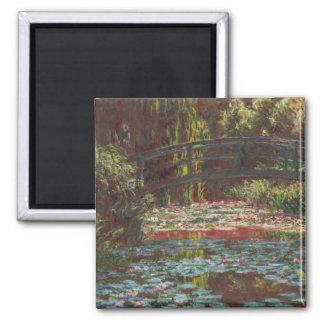 Claude Monet Square Magnet