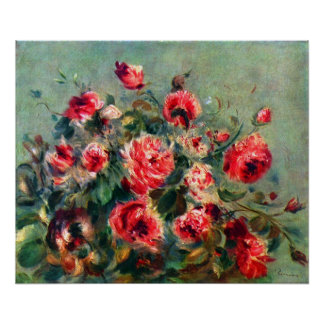 Claude Monet - Still life roses of Vargemont Poster