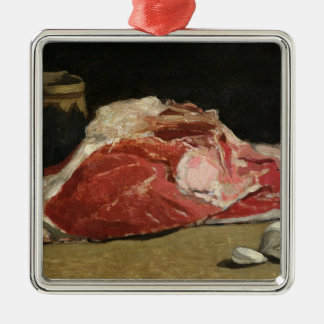 Claude Monet | Still Life, the Joint of Meat Silver-Colored Square Decoration
