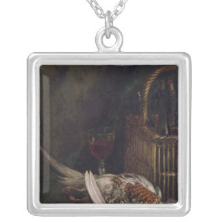Claude Monet | Still Life with a Pheasant, c.1861 Silver Plated Necklace