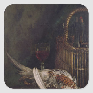 Claude Monet | Still Life with a Pheasant, c.1861 Square Sticker