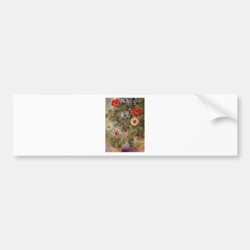 Claude Monet Still-Life with Anemone Destiny Gifts Bumper Sticker