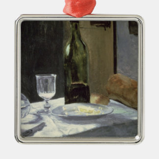 Claude Monet | Still Life with Bottles Silver-Colored Square Decoration