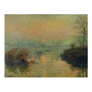 Claude Monet | Sun Setting over the Seine Postcard