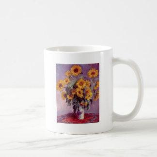 Claude Monet // Sunflowers Basic White Mug