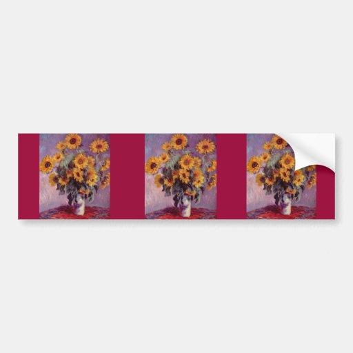 Claude Monet Sunflowers Bumper Sticker