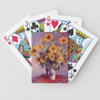 Claude Monet Sunflowers Card Decks
