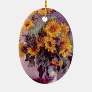 Claude Monet // Sunflowers Christmas Ornament