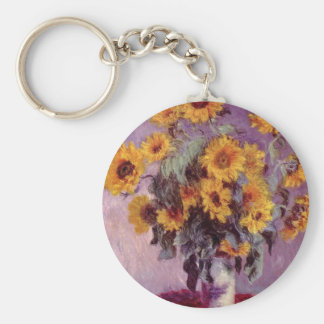 Claude Monet // Sunflowers Keychain