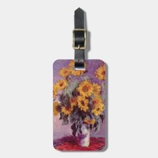 Claude Monet // Sunflowers Luggage Tag