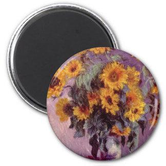 Claude Monet Sunflowers Magnet