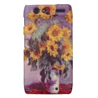 Claude Monet Sunflowers Motorola Droid RAZR Cover