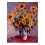 Claude Monet Sunflowers Postcard