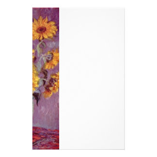 Claude Monet // Sunflowers Stationery Paper
