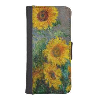 Claude Monet Sunflowers Vintage Floral iPhone SE/5/5s Wallet Case