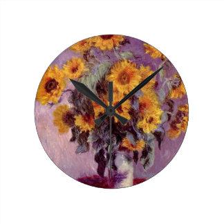 Claude Monet // Sunflowers Wallclock