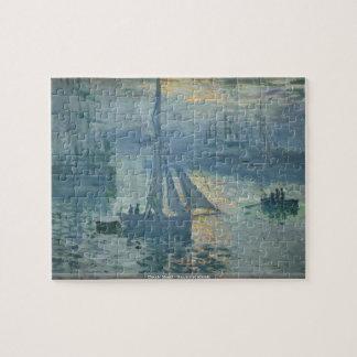 Claude Monet - Sunrise at seaside puzzle