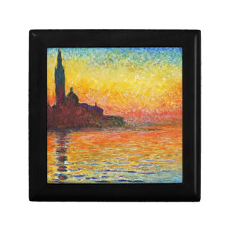 Claude Monet Sunset In Venice Small Square Gift Box