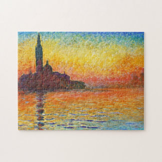 Claude Monet Sunset In Venice Impressionist Art Jigsaw Puzzle