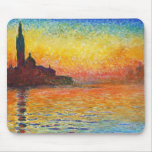 Claude Monet Sunset In Venice Impressionist Art Mouse Pad