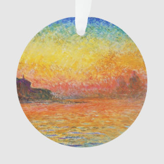 Claude Monet Sunset In Venice Impressionist Art Ornament
