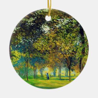 Claude Monet: The Allee Du Champ De Foire Double-Sided Ceramic Round Christmas Ornament