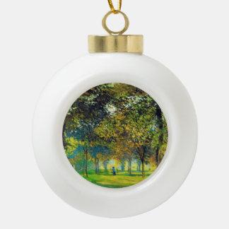 Claude Monet: The Allee Du Champ De Foire Ceramic Ball Christmas Ornament