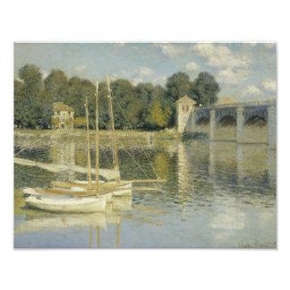 Claude Monet - The Argenteuil Bridge Photographic Print