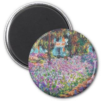Claude Monet - The Artist's Garden at Givern 6 Cm Round Magnet