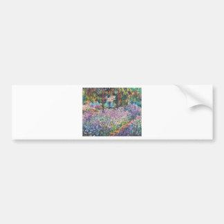 Claude Monet - The Artist's Garden at Givern Bumper Sticker