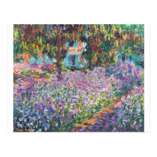 Claude Monet - The Artist's Garden at Givern Postcard