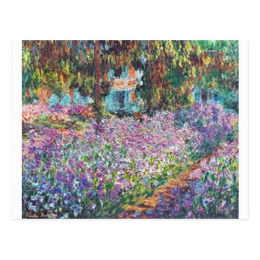 Claude Monet - The Artist's Garden at Givern Post Card