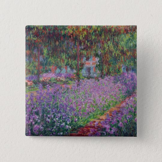 Claude Monet | The Artist's Garden at Giverny 15 Cm Square Badge