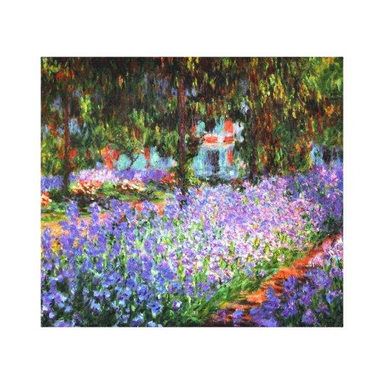 Claude Monet The Artist's Garden at Giverny Canvas