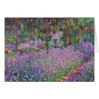 Claude Monet | The Artist's Garden at Giverny Card