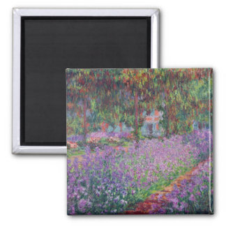 Claude Monet | The Artist's Garden at Giverny Square Magnet