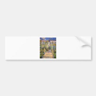 Claude Monet The Artist's Garden at Vétheuil, 1880 Bumper Sticker
