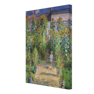 Claude Monet | The Artist's Garden at Vetheuil Canvas Print