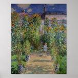 Claude Monet   The Artist's Garden at Vetheuil Poster