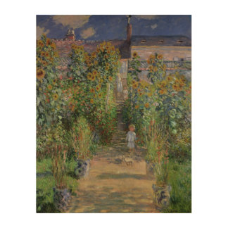 Claude Monet | The Artist's Garden at Vetheuil Wood Wall Art