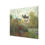 Claude Monet   The Artist's Garden in Argenteuil Canvas Print
