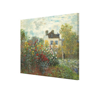 Claude Monet | The Artist's Garden in Argenteuil Canvas Print