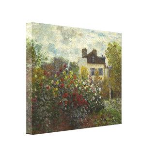 Claude Monet The Artist's Garden In Argenteuil Gallery Wrap Canvas