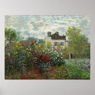 Claude Monet: The Artist's Garden in Argenteuil Poster