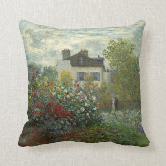 Claude Monet The Artist's Garden Painting Pillow