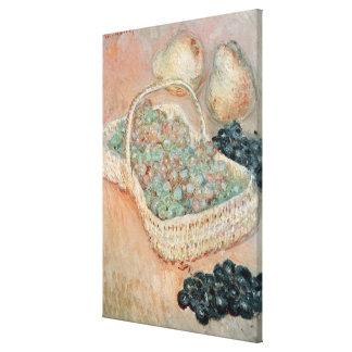 Claude Monet | The Basket of Grapes, 1884 Canvas Print
