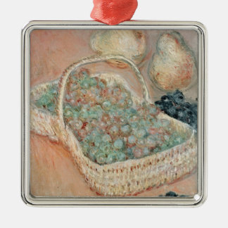 Claude Monet   The Basket of Grapes, 1884 Silver-Colored Square Decoration