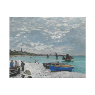 Claude Monet - The Beach at Sainte-Adresse Canvas Print