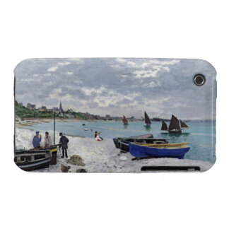 Claude Monet | The Beach at Sainte-Adresse iPhone 3 Case-Mate Cases